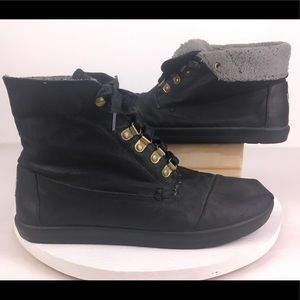 aadff79bf ... TOMS Fold-Down Boot Leather Wool Lined M10   W11.5